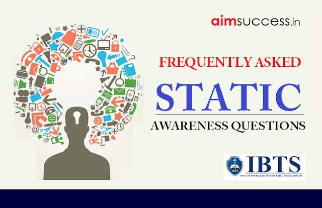 Static Awareness for IBPS PO/Clerk Main 2018: 23 October