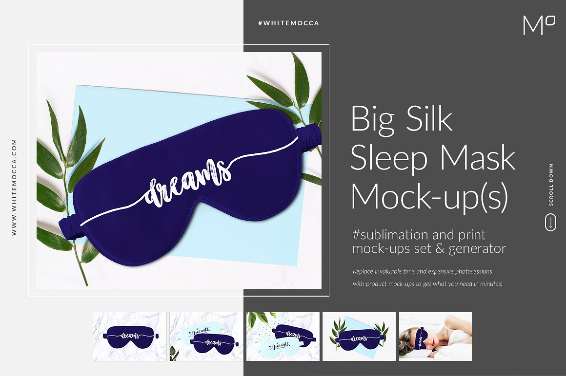 Silk Sleep Mask Mockup