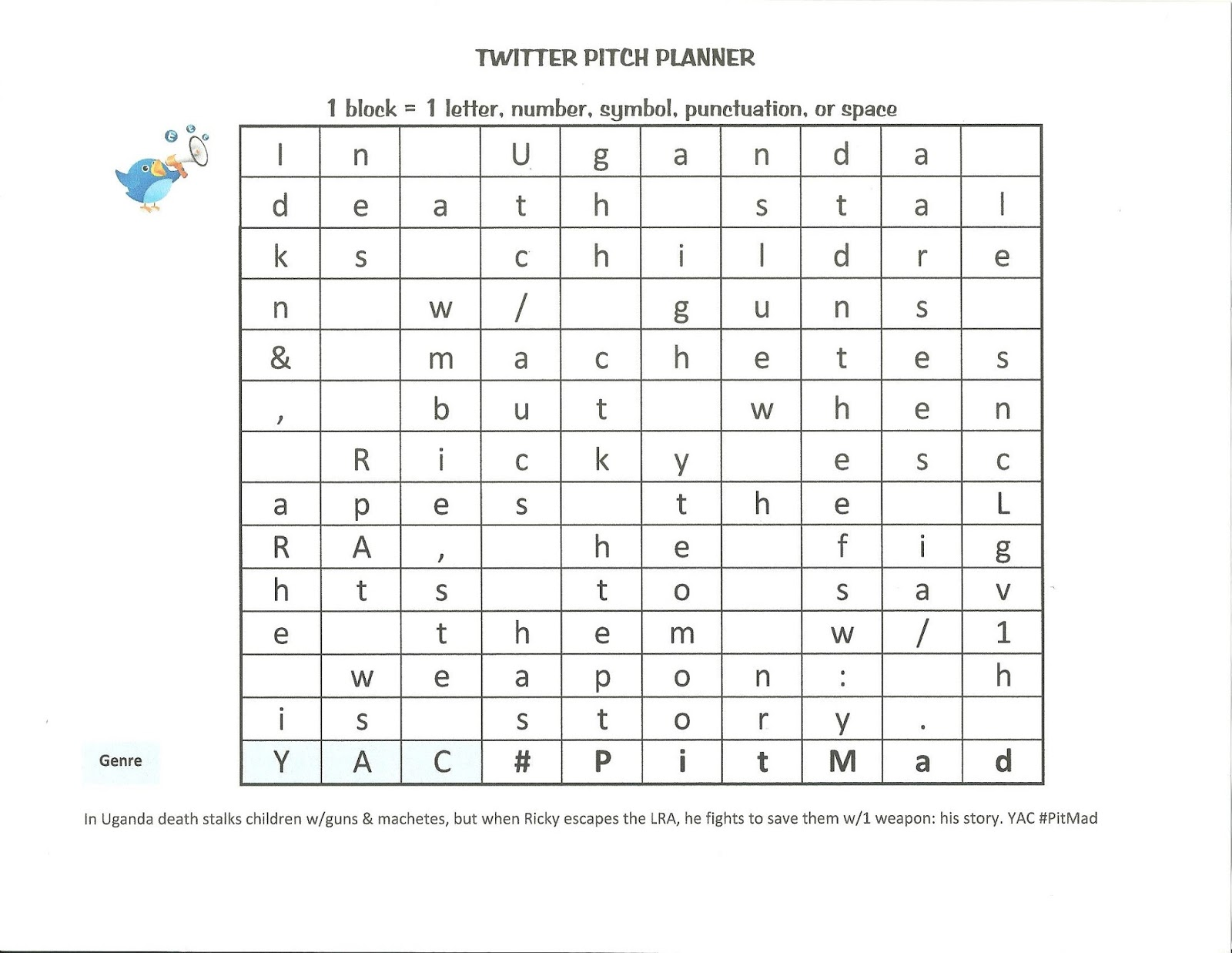 Writer's Dojo: Planning your Twitter Pitch