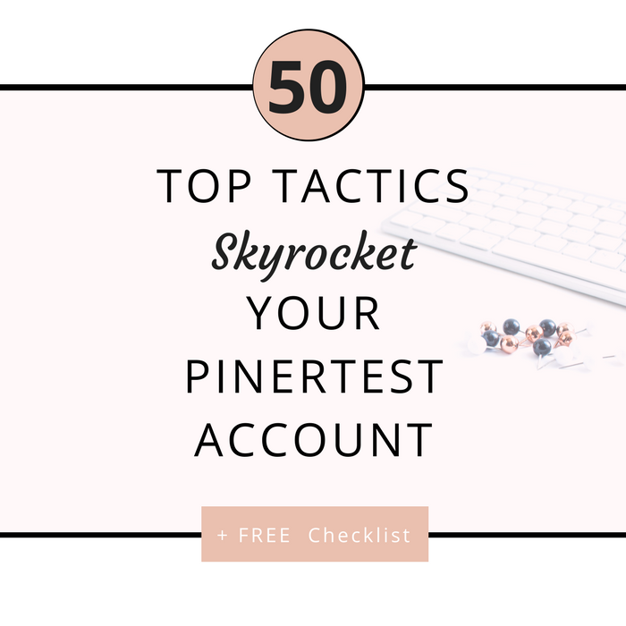 50 pinterest marketing strategies that will help you grow your blog, increase your traffic, gain clients and customers, and get people on your email lists! Learn more and take action today!