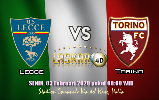 Prediksi Pertandingan Lecce vs Torino 03 Februari 2020