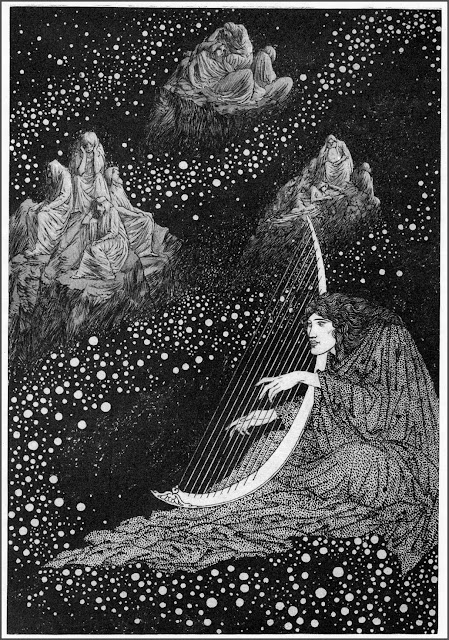 "Shimono Kani, youngest of gods, Sidney Sime for ""Time and the Gods"", Lord Dunsany"