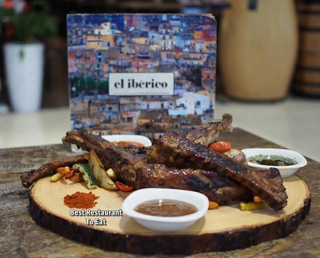 El Iberico Pork Ribs Tasting Platter