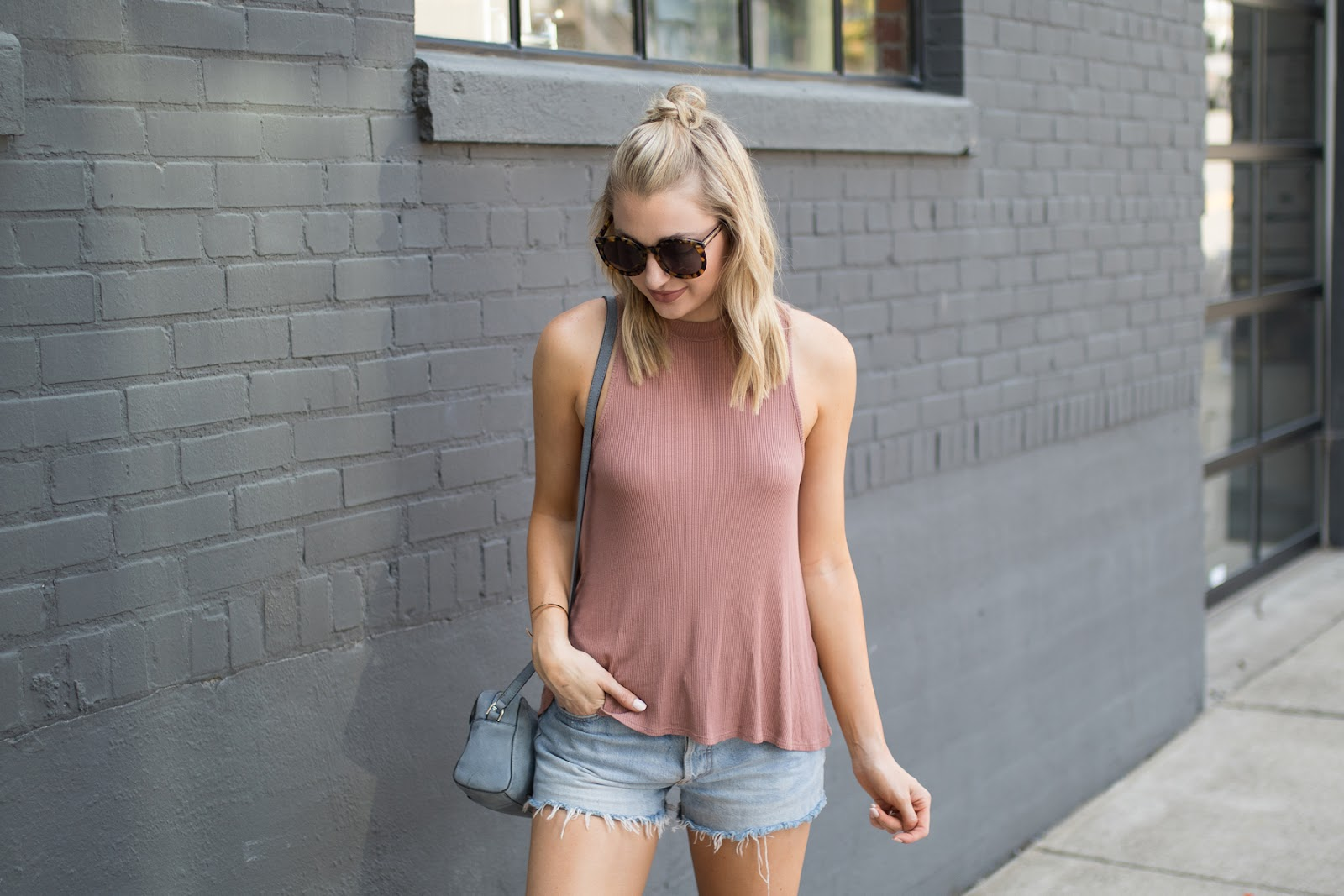 Dusty rose pink tank