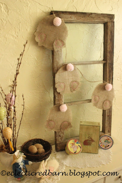 Eclectic Red Barn: Backend Bunny Garland Display