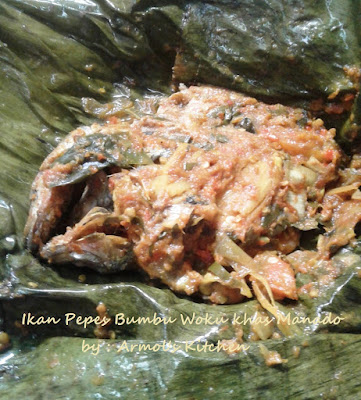 Pepes ikan bumbu woku ala Manado