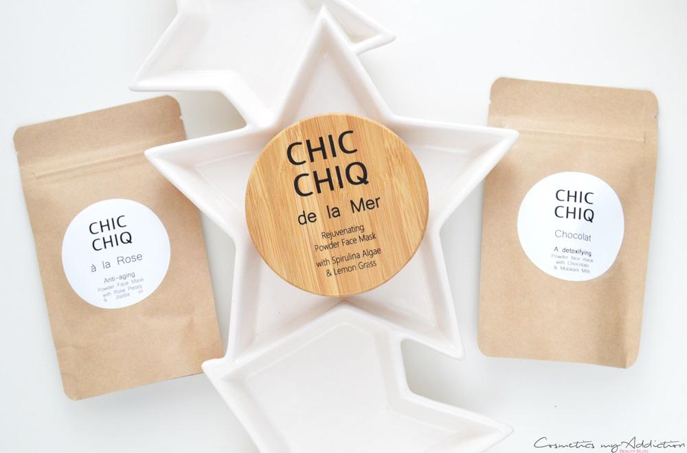 Chic chiq - de la Mer, czyli cudowna maseczka algowa + mini recenzja Chocolate oraz a la Rose