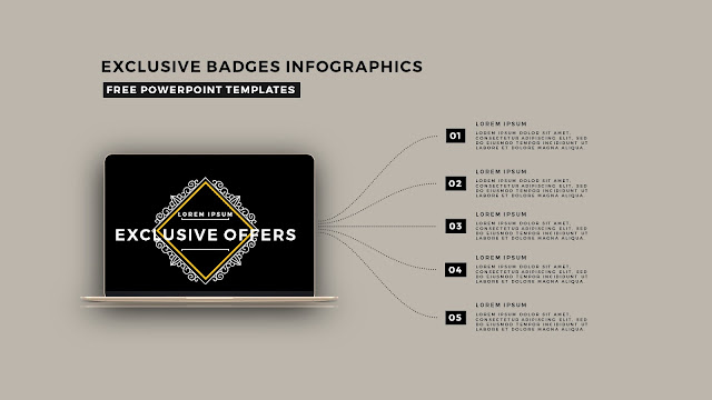 Infographic Badges Free PowerPoint Template for Special Offers Slide 15