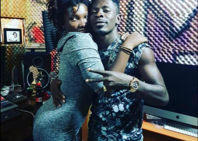 Late Ebony Reigns (Left) And Shatta Wale (Right)