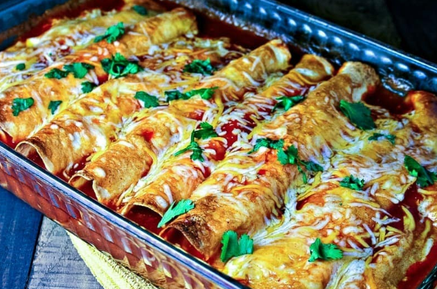 Cheesy Chicken Enchiladas #healthydinner #eating