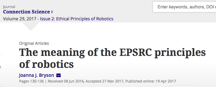 The Meaning Of The Epsrc Principles Of Robotics