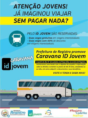 Prefeitura de Registro-SP promove Caravana ID Jovem