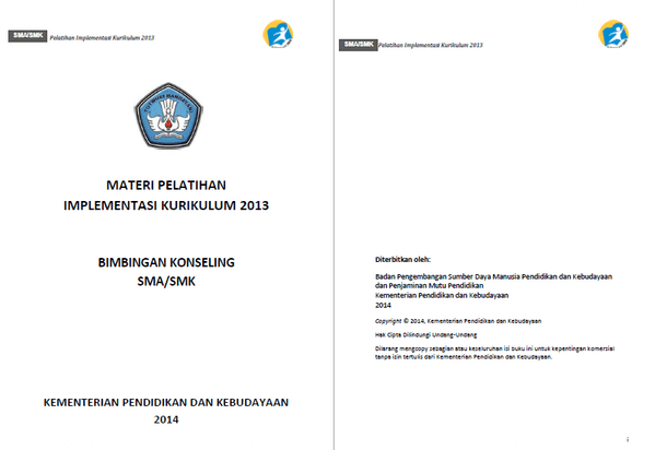 Buku Materi Pelatihan BK SMA SMK Implementasi Kurikulum 2013