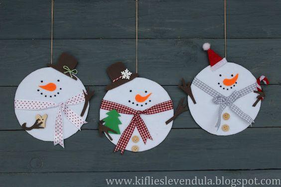 estos nos gustaron pues con bellos adornos navideos en foami o goma eva como puede ser santa un ngel o el mueco de nieve