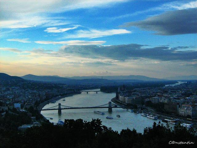 Dunãrea la Budapesta pe înserat - blog Foto-Ideea