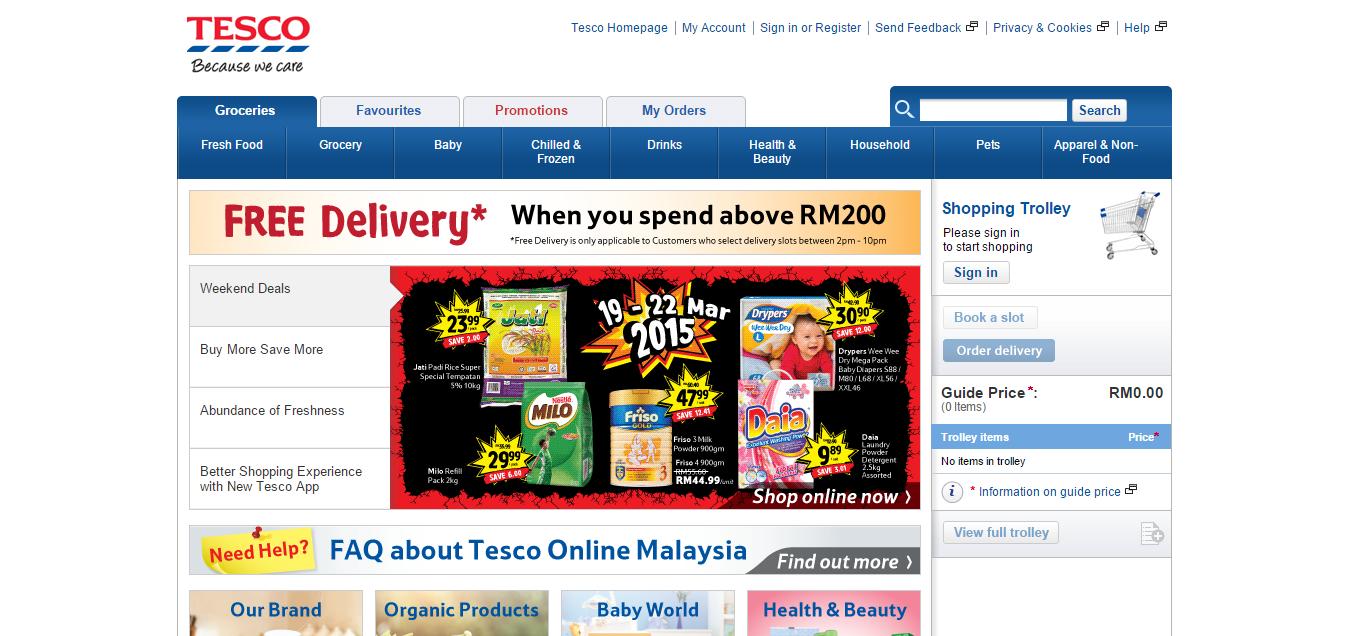 Tesco online store