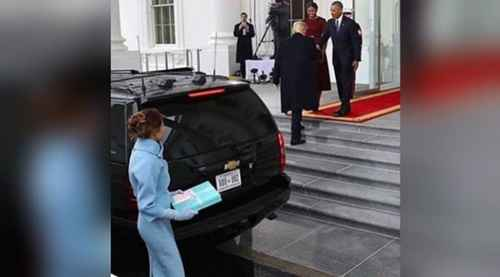 Ekspresi Melania Trump