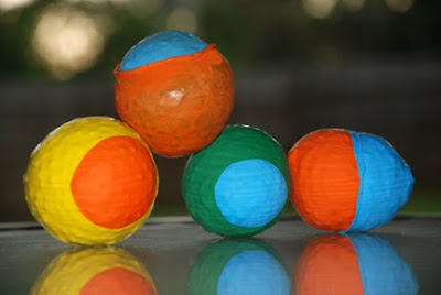 rainbow beanbag balls Family fun