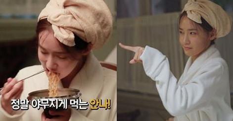 Phim Yoon Ah lộ bản chất ham ăn khi quay cảnh ăn mì trong The K2-2016