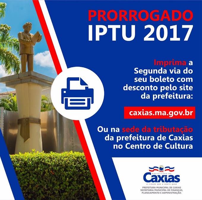 Pagamento do IPTU é prorrogado em Caxias até o dia 05 de junho