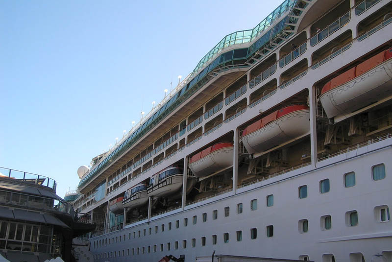 Wave Damages Cabins on Royal Caribbean Ship