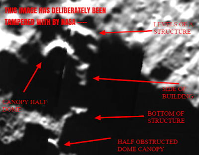 Evidence and proof of artificial features on the surface of the Moon.