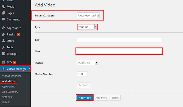 create gallery for youtube videos in WordPress
