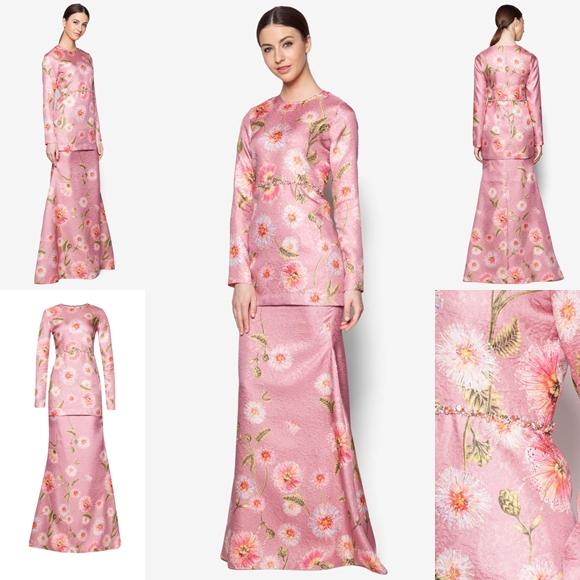 Fesyen Trend Terkini Bianco Mimosa Prisma Baju Kurung Moden Baju Raya 2017