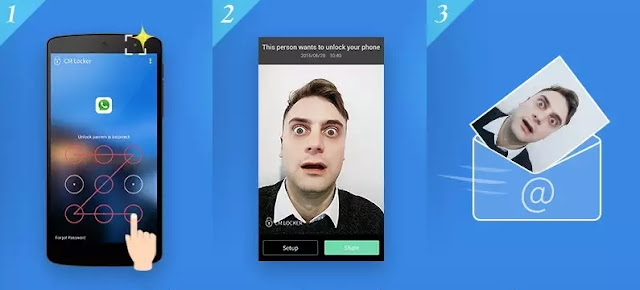 foto de quem tentar desbloquear seu celular