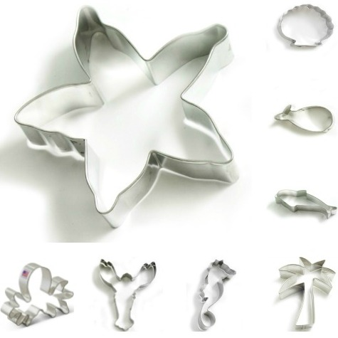 Coastal Beach Cookie Cutters