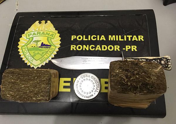 Dois jovens são apreendidos por tráfico de drogas em Roncador