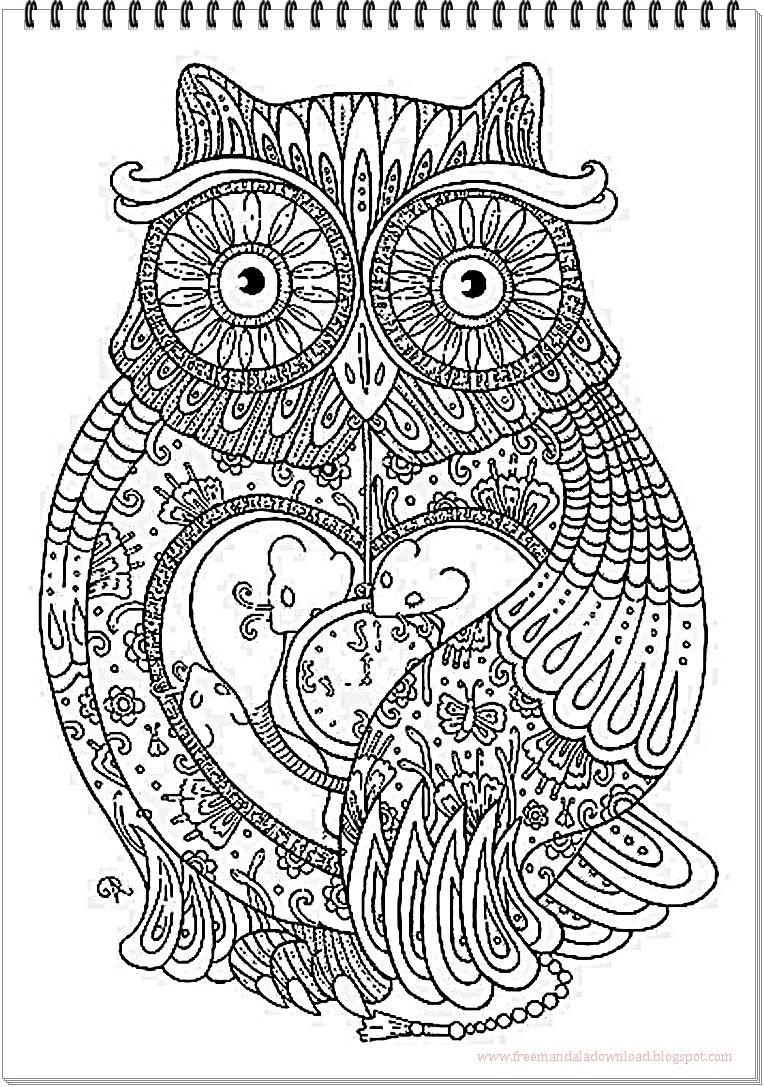 eulen mandala owls mandala hochwertige mandala bilder. Black Bedroom Furniture Sets. Home Design Ideas