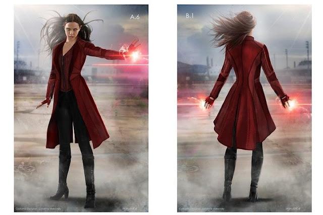 Elisabeth Olsen como Scarlet Witch en Civil War