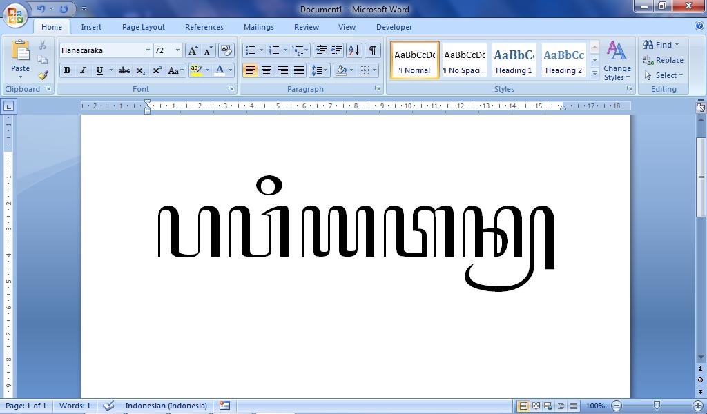 Menulis Aksara Jawa Di Komputer Deuniv