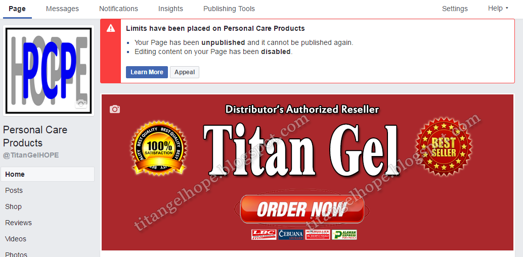 titan gel hope 2017