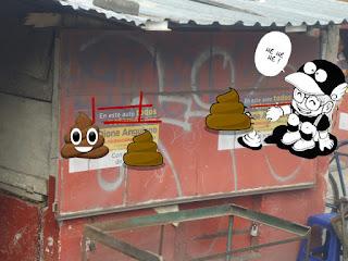 contaminación visual en la propiedad privada