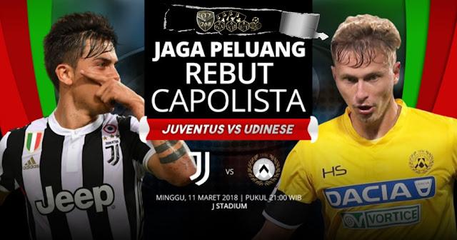 Prediksi Juventus Vs Udinese, Minggu 11 Maret 2018 Pukul 21.00 WIB