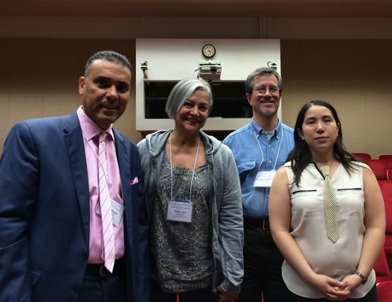 Sameh Ragab, outgoing CTA President Thaïs Lips, myself and Andie Ho