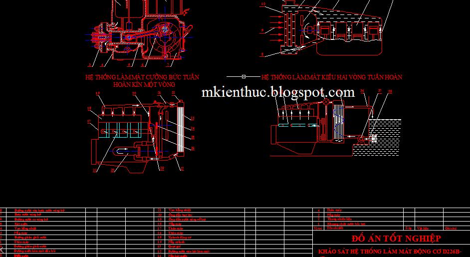 bản vẽ động cơ D226B-4D