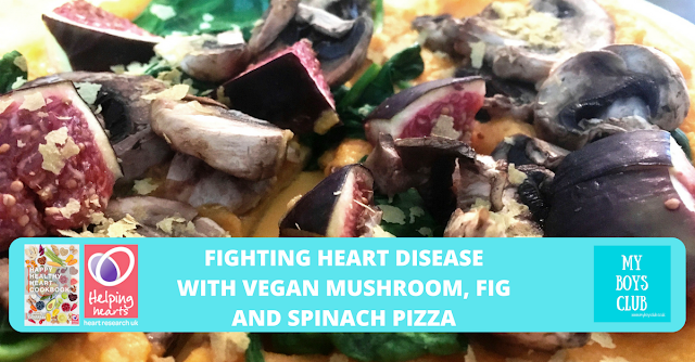 Fighting Heart Disease with Vegan Mushroom, Fig and Spinach Pizza