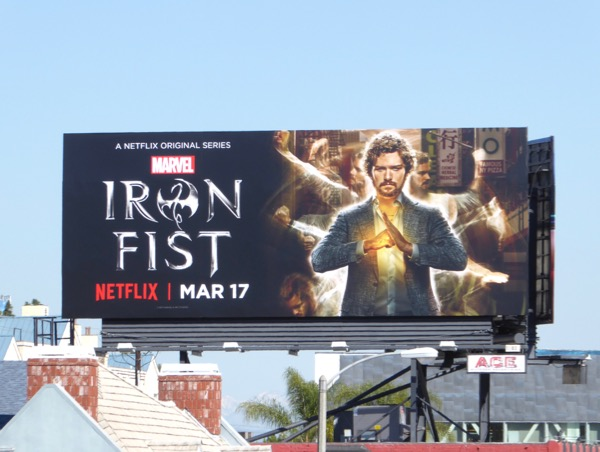 Iron Fist series premiere billboard