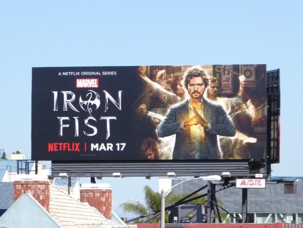 Iron Fist series premiere billboard