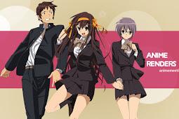 Anime Renders: Suzumiya Haruhi no Yuuutsu