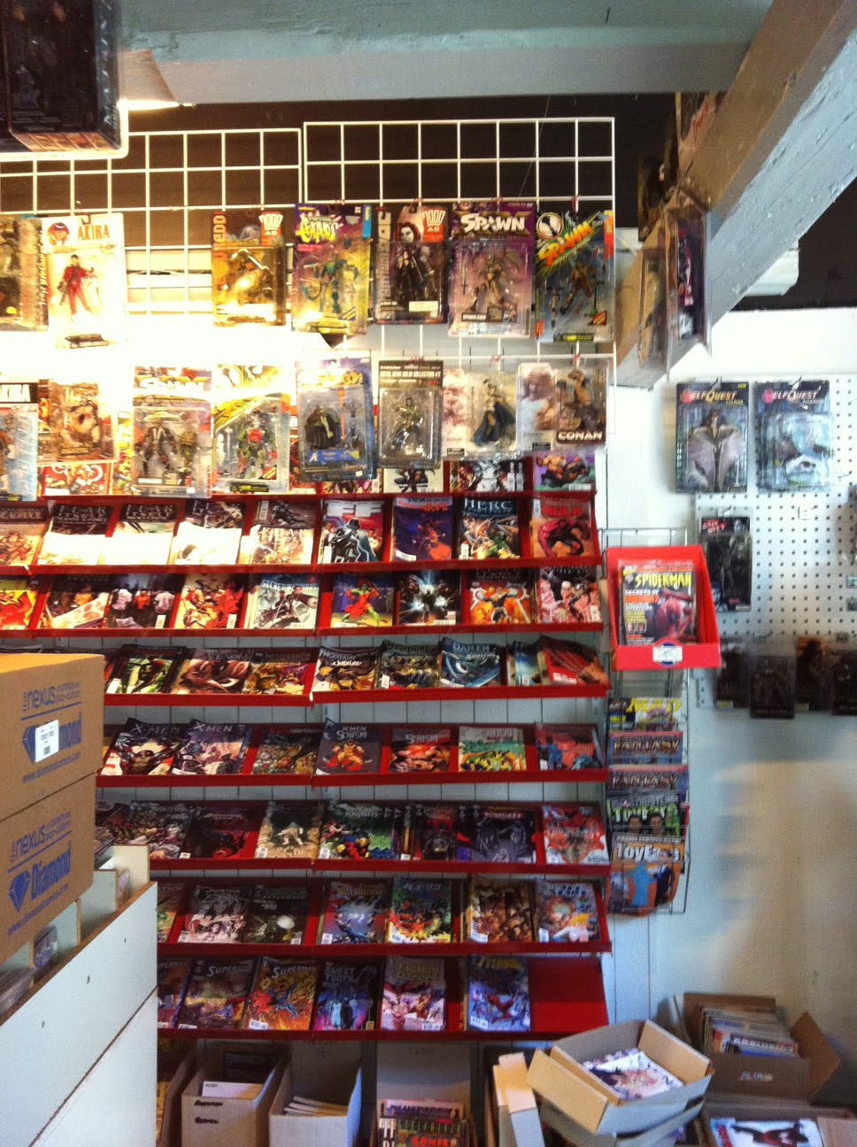 Comics In A Comic Shop
