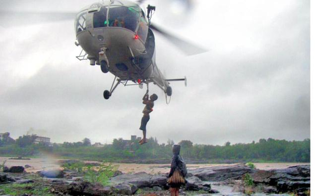 In an hour long operation on Saturday Indian Coast Guard rescued 10 villagers in Valsad district, who had been stranded in  the rising waters of  Damanganga river.  A search party from Borikachi had set out to look for the body of an individual, who had drowned in the Damanganga river, say media reports.   They were stranded as the river water rose suddenly due to release from a nearby dam, prompting  other villagers in the vicinity to call the local administration, which in turn placed a call to Coast Guard station in Daman at about 4.30 pm.