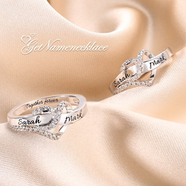 getnamenecklace best friend rings cheap