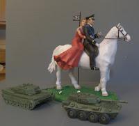 statuette cake tops esercito carri armati sposi torta nuciale cavallo orme magiche