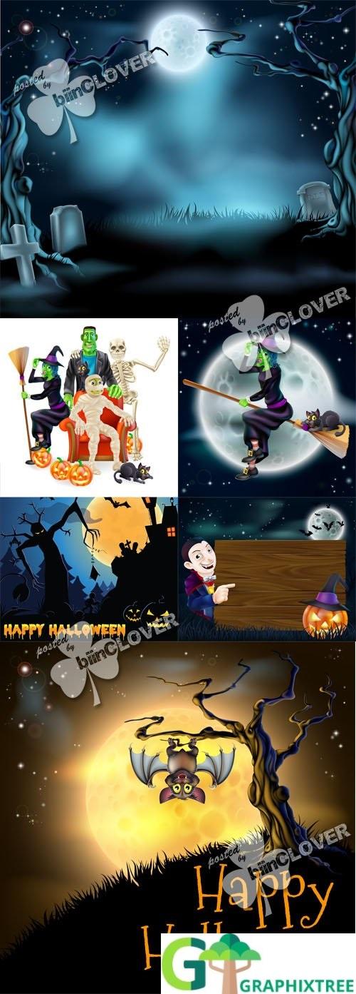 Vector Happy Halloween 0498