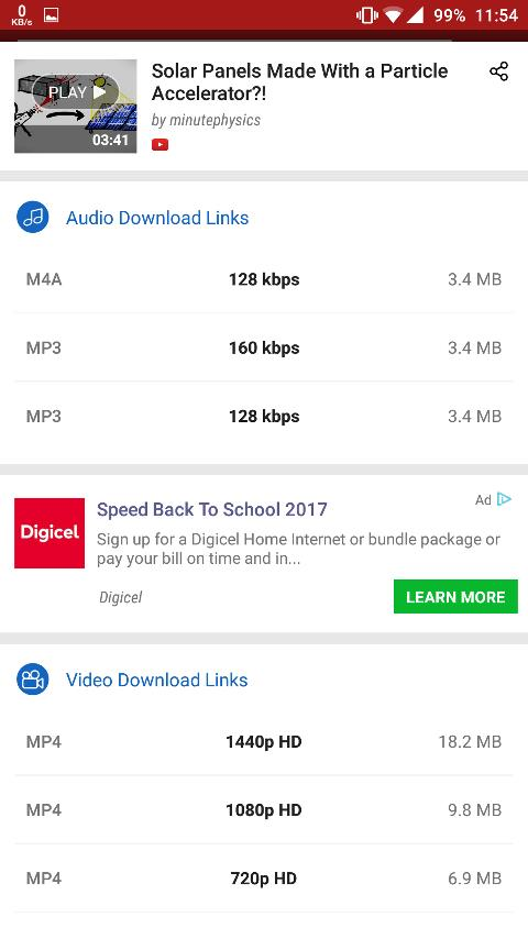 Download youtube videos on android step 3