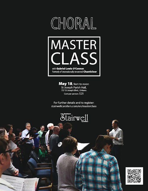 Choral Masterclass poster Deadline May 15th  2019 - Register NOW